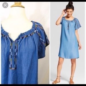 NWT Knox Rose blue embroidered dress 2xl